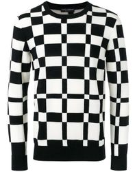 Dolce & Gabbana | Black Graphic Knit Sweater for Men | Lyst