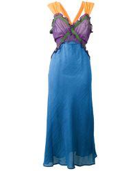 Attico   Blue Juliana Dress   Lyst