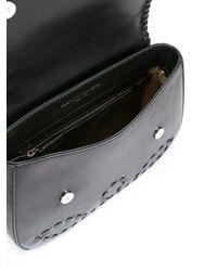Alberta Ferretti Black Tassel Detail Crossbody Bag