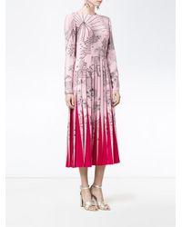 Valentino Pink Printed Silk Dress