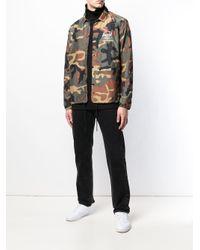 Herschel Supply Co. Green Voyage Coach Jacket (peacoat/white Print) Coat for men