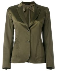 Tonello | Green Two Button Blazer | Lyst