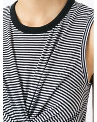 T By Alexander Wang Black Striped T-shirt Dress