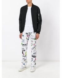 KENZO - White Animated Print Trousers for Men - Lyst