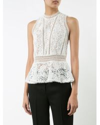 Rebecca Taylor - White Lace Detail Top - Lyst