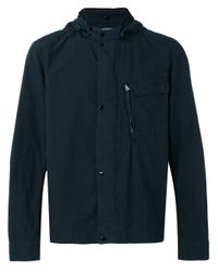 C P Company   Blue Hooded Lightweight Jacket for Men   Lyst