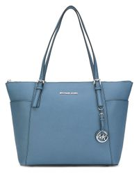 ebeb5c288cb9 MICHAEL Michael Kors Jet Set Travel Tote in Blue - Lyst