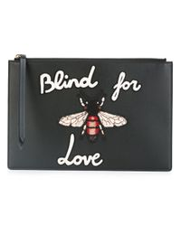 Gucci | Black - Blind For Love Clutch Bag - Women - Calf Leather - One Size | Lyst