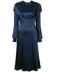 Tatuna Nikolaishvili - Blue Cowl Neck Dress - Lyst
