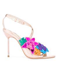 Sophia Webster - Multicolor Floral Metallic Sandals - Lyst