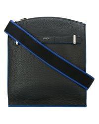 Furla   Black Square Messenger Bag for Men   Lyst