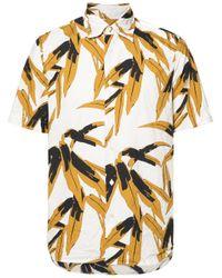 Marni White Swash Print Shirt for men