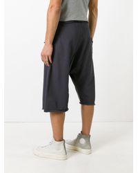 Damir Doma - Gray Drop-crotch Sweatshorts for Men - Lyst