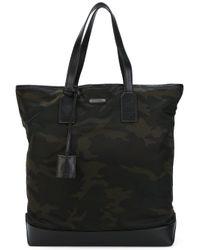 Saint Laurent | Black Camouflage Holdall Bag for Men | Lyst