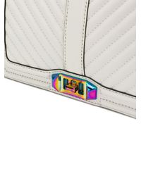 Rebecca Minkoff - White Chevron Quilted Love Crossbody - Lyst