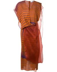 Chalayan ストライプ レイヤードドレス Multicolor