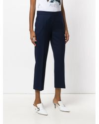 ODEEH Blue Cropped Trousers