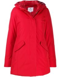 Woolrich パデッド パーカーコート Red