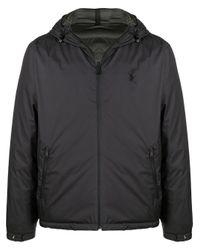 Polo Ralph Lauren Gray Padded Hooded Jacket for men