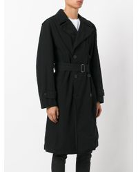 Amen - Black Embroidered Trench Coat for Men - Lyst