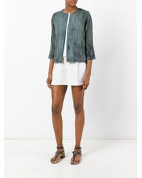 Avant Toi Green Distressed Overdyed Knitted Jacket