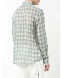 John Varvatos Blue Checked Shirt for men