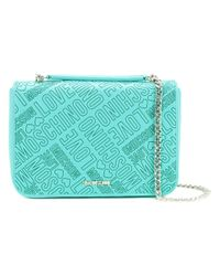 Love Moschino - Green Chain Strap Branded Bag - Lyst