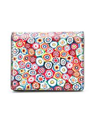 Tory Burch - Red Floral Wallet - Lyst