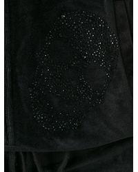 Philipp Plein - Black Skull Embellished Playsuit - Lyst