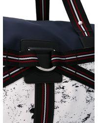 Dior Homme - Blue Three-tone Canvas Duffle Bag for Men - Lyst