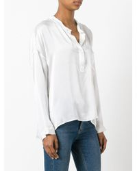 Nude | White Henley Blouse | Lyst