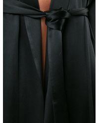 Galvan - Black Tie-waist Silk Jacket - Lyst