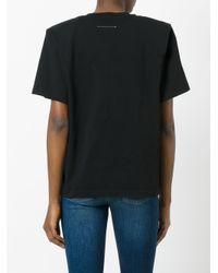 MM6 by Maison Martin Margiela - Black Boxy T-shirt - Lyst
