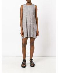 Pleats Please Issey Miyake - Gray Pleated Shift Dress - Lyst