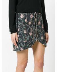 Isabel Marant Black Quilted Mini Skirt