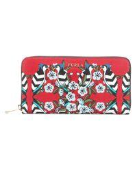 Furla - Red Floral Zip Purse - Lyst