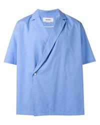 Sunnei Blue Kimono Short Sleeve Shirt for men