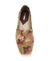 DSquared² Green Camouflage Print Espadrilles