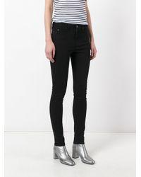Karl Lagerfeld Black Polka Dot Skinny Jeans