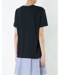 Clane Black Oversized Short Sleeve T-shirt