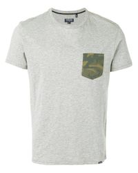 Woolrich Gray T-shirt With Camouflage Pocket for men