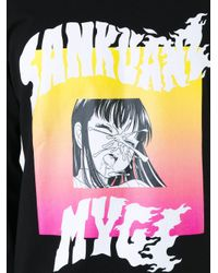 Sankuanz - Black Graphic Print Sweatshirt for Men - Lyst