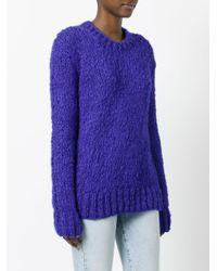 Céline Blue - Round Neck Jumper - Women - Silk/linen/flax/polyester - S