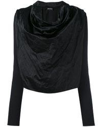 Andrea Ya'aqov | Black Draped Front Jumper | Lyst