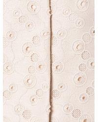 Max Mara Studio Pink Lace Detail Coat