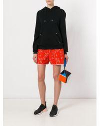 KENZO Multicolor Cube Clutch Bag