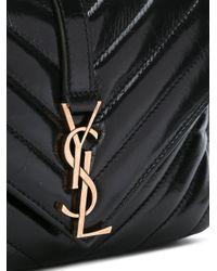 Saint Laurent - Black College Chain Wallet - Lyst