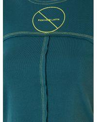 Eckhaus Latta | Green Lapped Cropped T-shirt | Lyst