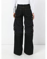 Y. Project Blue Stud Detail Knee Patch Jeans