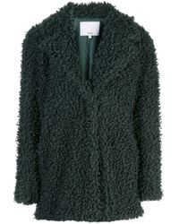 Tibi Green Texturierter Mantel